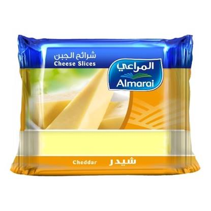 Picture of ALMARAI CHEESE SLICES CHEDDAR  FULL FAT 200G (1X12)