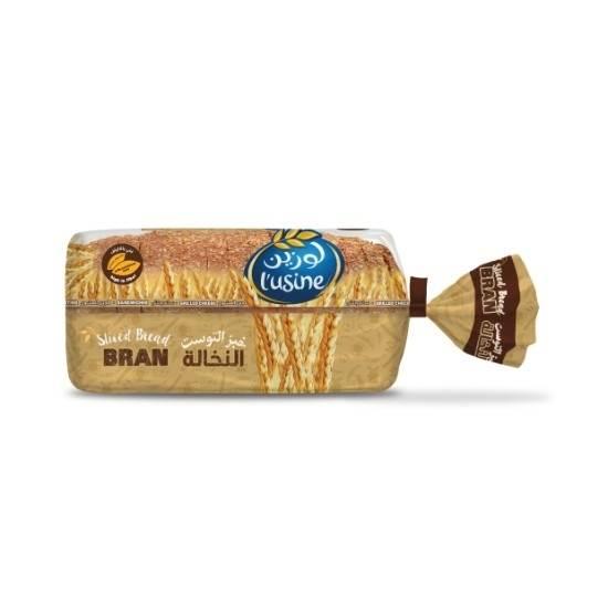 صورة خبز التوست بالنخاله علامة  لوزين  600 جرام