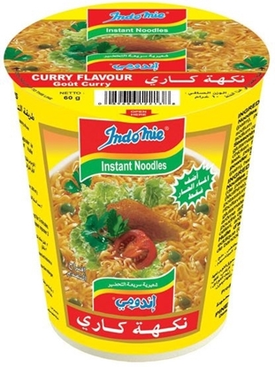 Picture of Indomie Instant Noodles Curry Flavor Cup 60gm (24pcs)