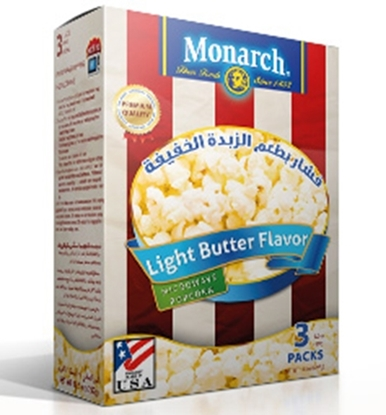 Picture of Monarch Microwave Popcorn Light Butter Flavor 255 gm