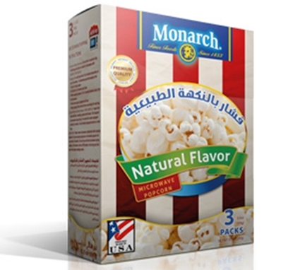 Picture of Monarch Microwave Popcorn Natural Flavor 255 gm