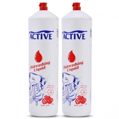 Picture of ACTIVE DISH WASH LIQ. APPLE 1 LTR