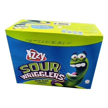 Picture of Gummies_IZZY_Sour Wrigglers Display box _12x24x_16g_