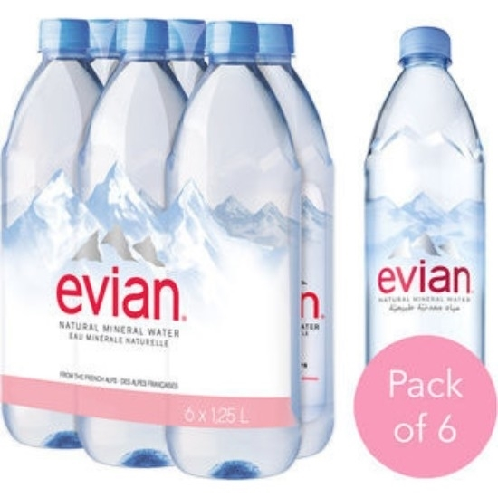 Picture of Evian Mineral Water 1.25 L x 6  ( Bag )