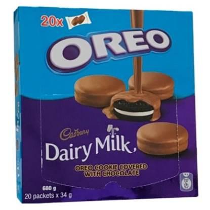 الصورة:  بسكويت اوريو مغطى بالشوكولاته 34 جم *20
