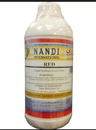 Picture of Nandi Food Colour Red Liquid ( 1 Bottle * 1 Liter )