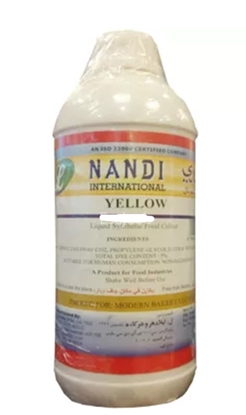 Picture of Nandi Food Colour Yellow Liquid ( 1 Bottle * 1 Liter )