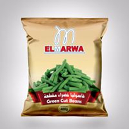 Picture of El-Marwa Frozen Cut Green Beans 400 GM