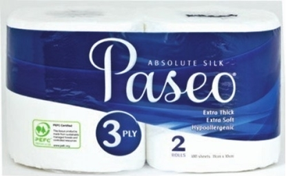 Picture of Paseo Bath Rolls 3 Ply 280 Sheets x 2 Rolls