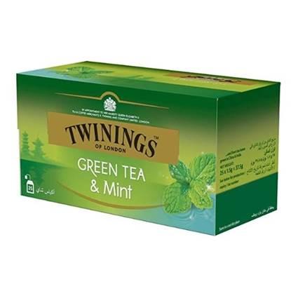الصورة: تويننجز شاي أخضر بالنعناع 25 كيس 37.5 جم