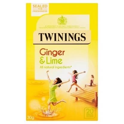 الصورة: شاي تويننجز مزيج أعشاب الزنجبيل بنكهة حامض الليمون 30جم (20*1.5جم)