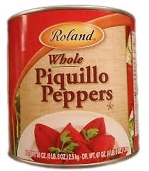 Picture of Roland Whole Red Piquillo Peppers-88 onz*6 can