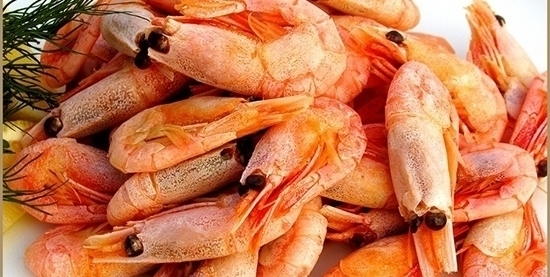 Picture of Shrimps with Peel Sea caught -40\60- 12 Killo