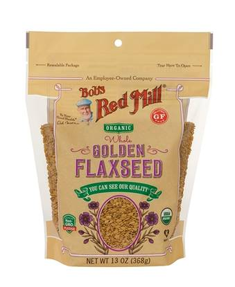 Picture of BRM GLUTEN FREE Organic Flax seeds Golden 13 OZS