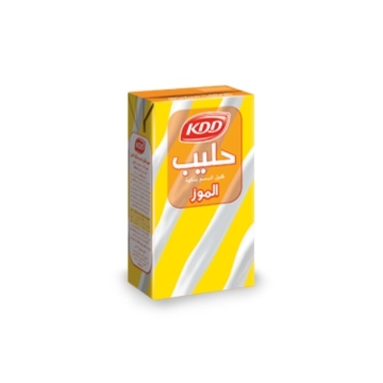 Picture of KDD BANANA MILK ¼ LTR 6P STRIPED