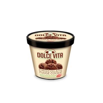 الصورة: Dolce Vita Ice Cream Chocolate Fudge Cookie 1 LTR