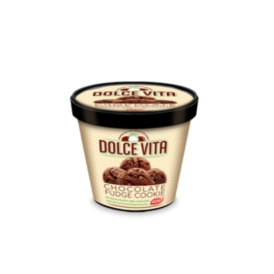 Picture of Dolce Vita Ice Cream Chocolate Fudge Cookie 1 LTR
