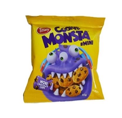 Picture of Cookie Monsta Mini Tiffany Choco Chip Cookies Chocolate _6x_12x40g