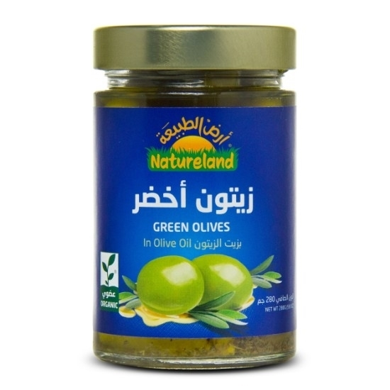 Picture of Green Olives in Olive Oil, 280g, organic