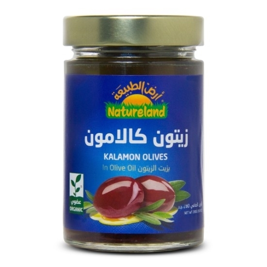 Picture of kalamon Olives in Olive Oil, 280g, organic