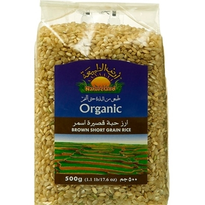 Picture of Brown Short Grain Rice, 500g, organic