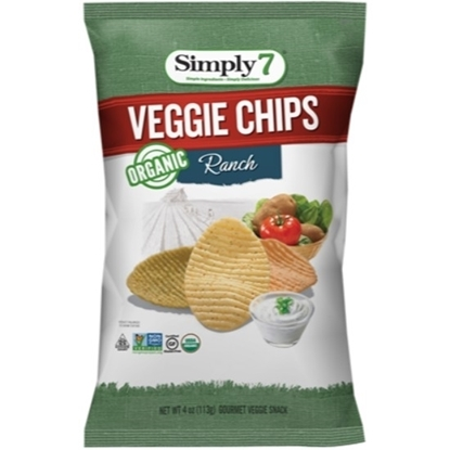 Picture of Simply 7 Veggie Chips Organic Ranch 113 G