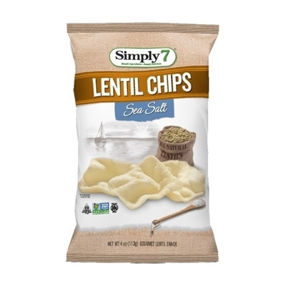 Picture of Simply 7 LENTIL Chips Sea Salt 113 G