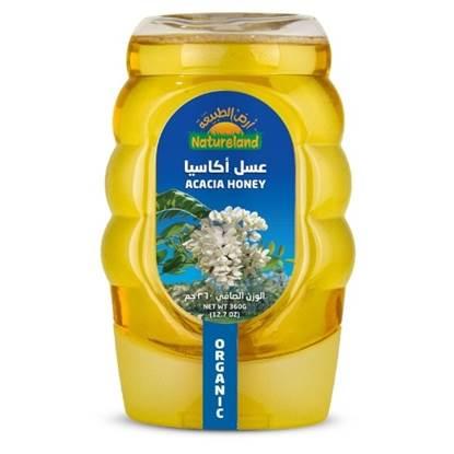 الصورة: عسل الاكاسيا أرض الطبيعة, 500جم, عضوى