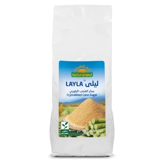 Picture of Layla Crystallized Cane Sugar, 500g, organic
