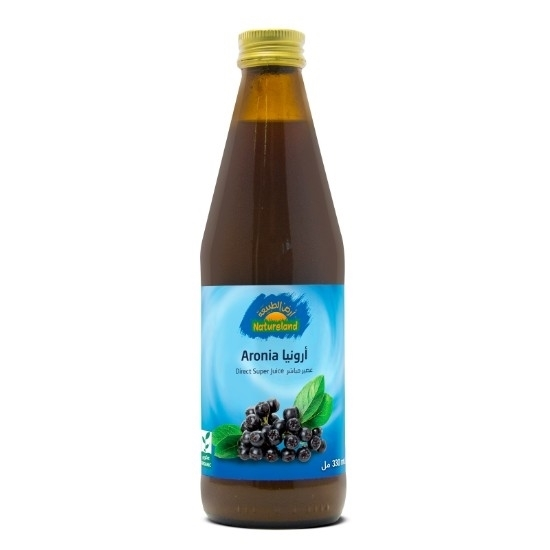 صورة عصير توت الارونيا أرض الطبيعة, 330مل, عضوى