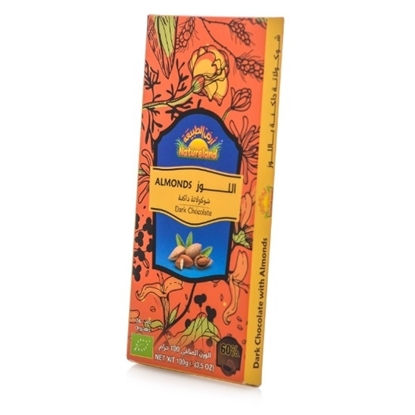Picture of Almond Dark Chocolate, 100g, organic