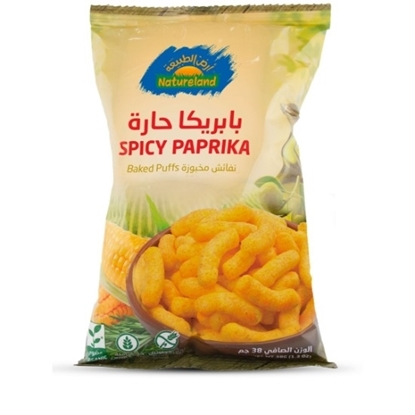 Picture of Baked Puffs Spicy, 38g, organic