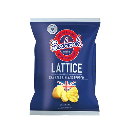 Picture of Seabrook Lattice Cut Crisps Sea Salt  Black Pepper 120 G