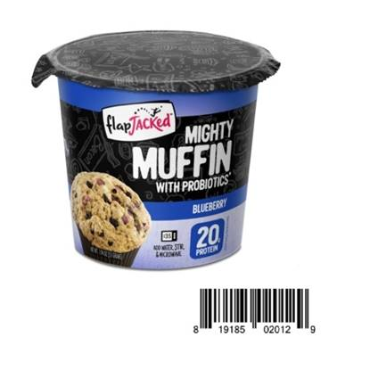 Picture of Flapjacked Mighty Muffins with Probiotics 20 GM PROTEIN - Blueberry 1.9 OZ