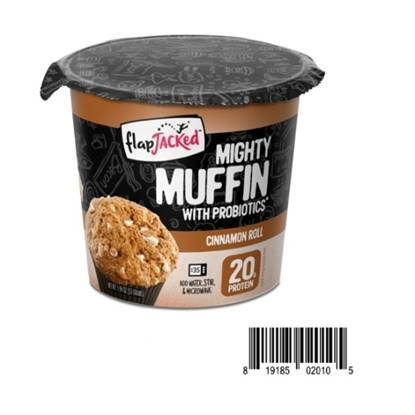 Picture of Flapjacked Mighty Muffins with Probiotics 20 GM PROTEIN - Cinnamon Roll 1.9 oz