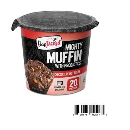 Picture of Flapjacked Mighty Muffins with Probiotics 20 GM PROTEIN- Chocolate Peanut Butter 1.9 OZ