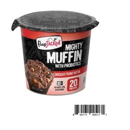 الصورة: خليط مافن الشوكولاتة وزبدة الفول السوداني بالبروبيوتيك والبروتين – فلاب جاكد