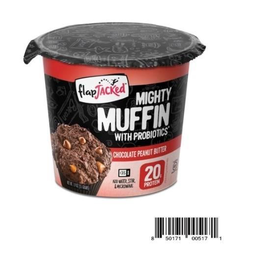 صورة خليط مافن الشوكولاتة وزبدة الفول السوداني بالبروبيوتيك والبروتين – فلاب جاكد