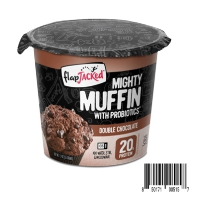 Picture of Flapjacked Mighty Muffins with Probiotics -Double Chocolate