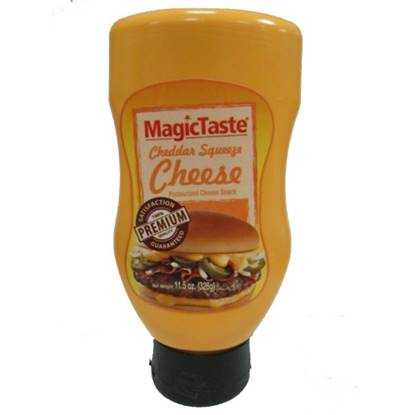 Picture of Magic Taste Cheddar Squeeze Cheese 326 GM