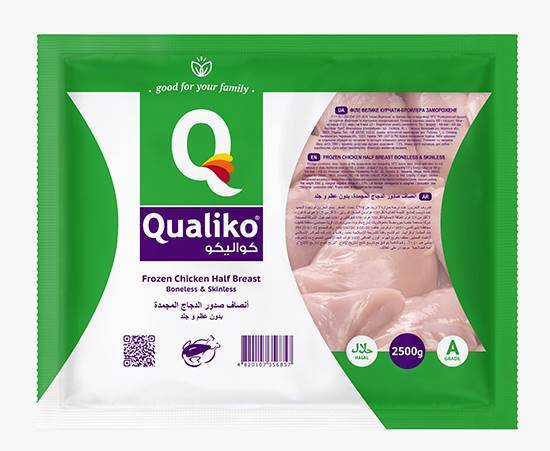 Picture of Qualiko Frozen Chicken Half Breast Boneless Skinless  ( 4 Pieces * 2500 GM )
