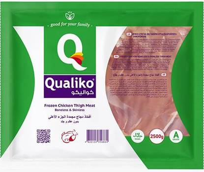 Picture of Qualiko Frozen Chicken Thigh Skinless Boneless   (4 Pieces * 2500 GM )
