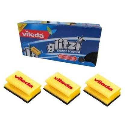 Picture of Vileda Glitzi High Foam Scourer 3Pcs