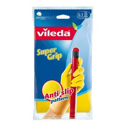 Picture of Vileda Super Grip Durable Gloves Small Size