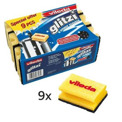 Picture of Vileda Glitzi High Foam Scourer 9Pcs