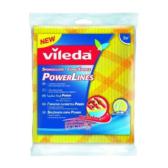 Picture of Vileda Wiping Sponge Cloth Power 3Pcs