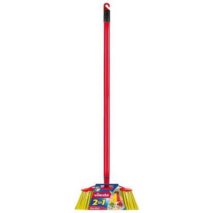 Picture of Vileda 2in1 Outdoor Broom With Stick