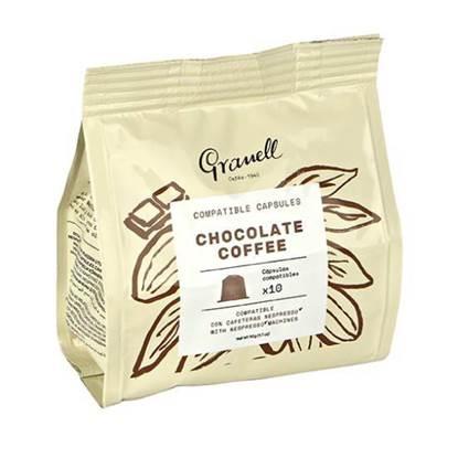 Picture of Granell Chocolate espresso capsules 10Capsule