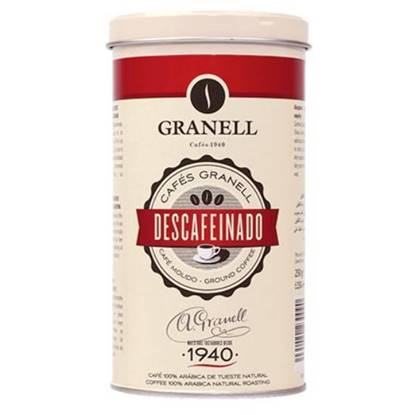 Picture of Granell Tin decaf gourmet ground coffee premium 250GM