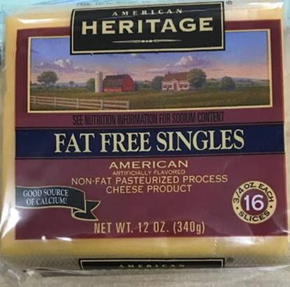 Picture of Heritage Sliced Cheese Yellow Fat Free  ( 340 GM * 12 Piece  )